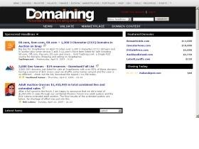 Domaining.com - Site Of The Week