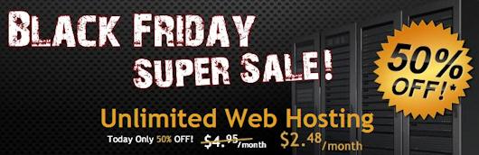 HostGator 50% Off Black Friday Deal